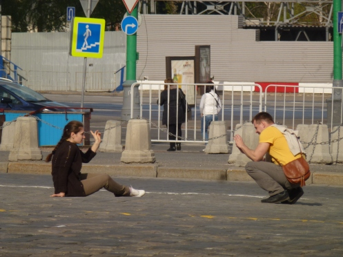 Fotosession: Das Hobby der Moskaviter :-) ©Ulla Keienburg 2012