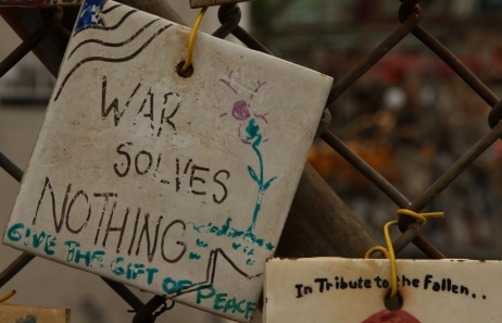 war solves nothing
