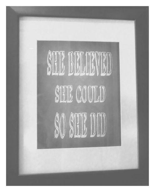 she believed in grey