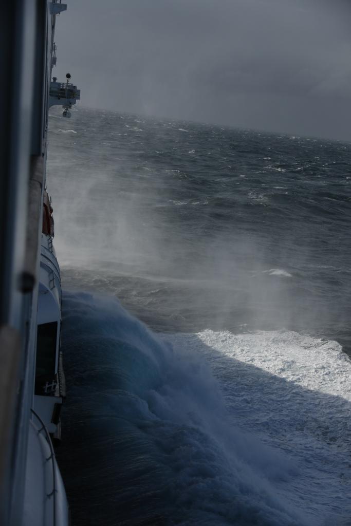 Stürmischern Atlantik vor der Atlantikküste Argentiniens Januar 2020